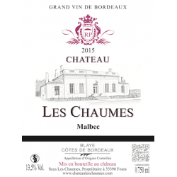 Chaumes Malbec 2015